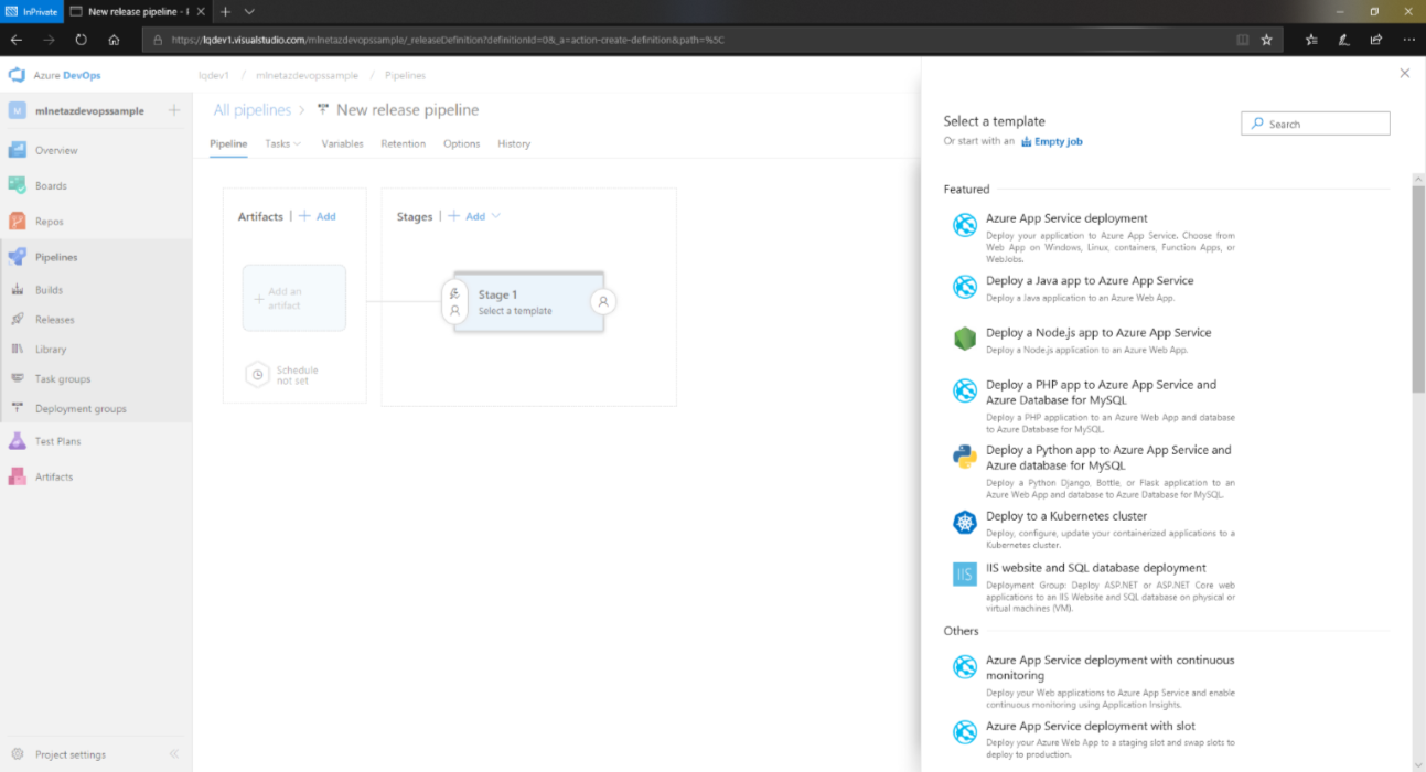 Operationalizing Machine Learning with ML NET, Azure DevOps and